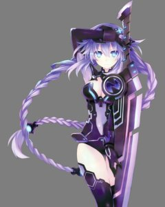 Rating: Safe Score: 75 Tags: bodysuit choujigen_game_neptune cleavage neptune no_bra purple_heart see_through sword thighhighs transparent_png tsunako User: Arkheion