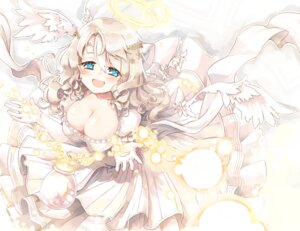 Rating: Safe Score: 21 Tags: cleavage dress naka_akira wings User: Mr_GT