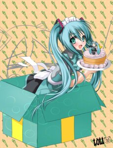 Rating: Safe Score: 32 Tags: hachune_miku hatsune_miku loli-pig vocaloid waitress User: Ice