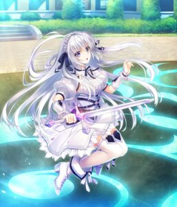 Rating: Safe Score: 31 Tags: armor game_cg giga_team_baldrhead heels senkou_no_clarias shelly_linestad skirt_lift suzuhira_hiro sword thighhighs User: edogawaconan