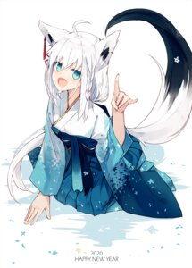 Rating: Safe Score: 26 Tags: animal_ears hololive hololive_gamers japanese_clothes nagishiro_mito shirakami_fubuki tail User: Nepcoheart