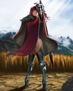 Rating: Safe Score: 40 Tags: armor heels robe sisshou_senkoku sword thighhighs User: mash