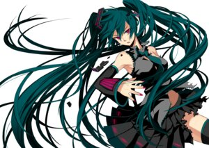 Rating: Safe Score: 29 Tags: hatsune_miku osamu thighhighs vocaloid User: hobbito