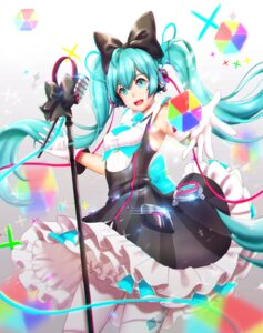 Rating: Safe Score: 23 Tags: dress hatsune_miku headphones pantyhose vocaloid y.i._(lave2217) User: Mr_GT