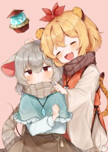 Rating: Safe Score: 25 Tags: animal_ears nazrin tail toramaru_shou touhou useq1067 User: Mr_GT