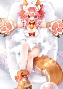 Rating: Questionable Score: 33 Tags: animal_ears bathing fate/grand_order garter naked_apron sll tail tamamo_cat thighhighs wet User: Nepcoheart