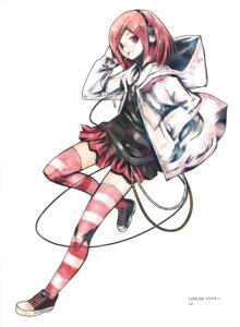 Rating: Safe Score: 16 Tags: headphones kei megane nanako_(kei) smoking thighhighs User: fireattack