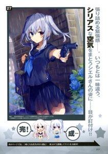 Rating: Questionable Score: 25 Tags: bikini chibi gun mishima_kurone seifuku swimsuits thighhighs User: drop