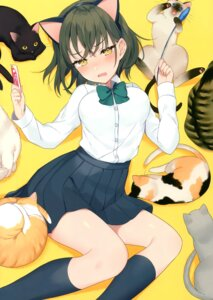 Rating: Safe Score: 30 Tags: achiki animal_ears neko nekomimi seifuku tagme User: kiyoe