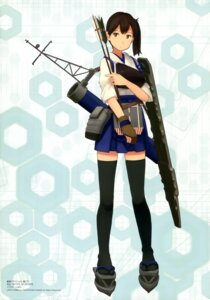 Rating: Safe Score: 40 Tags: kaga_(kancolle) kantai_collection shibafu thighhighs weapon User: drop