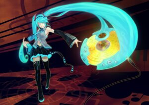 Rating: Safe Score: 11 Tags: hatsune_miku kuwatto_(swift) thighhighs vocaloid User: Radioactive