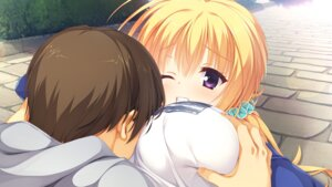 Rating: Questionable Score: 30 Tags: breast_grab game_cg kobuichi lena_liechtenauer senren_banka yuzu-soft User: moonian