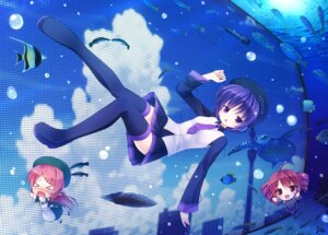 Rating: Safe Score: 16 Tags: chibi defoko kasane_teto momone_momo thighhighs utau yuku_(kiollion) User: blooregardo