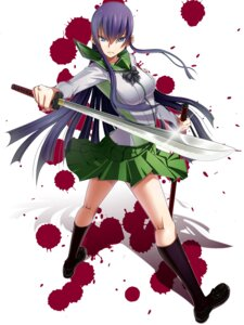 Rating: Safe Score: 33 Tags: blood busujima_saeko highschool_of_the_dead seifuku sword umeboshitora User: charunetra