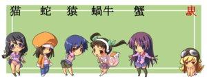 Rating: Safe Score: 21 Tags: bakemonogatari chibi hachikuji_mayoi hanekawa_tsubasa kanbaru_suruga oshino_shinobu seifuku sengoku_nadeko senjougahara_hitagi User: hirotn