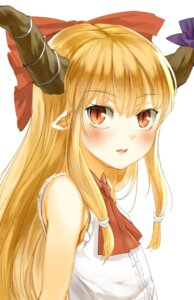 Rating: Safe Score: 26 Tags: horns ibuki_suika nishiuri pointy_ears touhou User: KazukiNanako