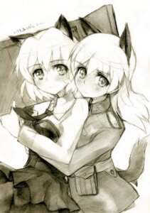 Rating: Safe Score: 11 Tags: animal_ears eila_ilmatar_juutilainen kisetsu monochrome nekomimi pantyhose sanya_v_litvyak sketch strike_witches User: charunetra