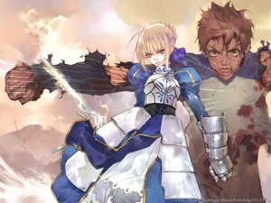 Rating: Safe Score: 11 Tags: blood emiya_shirou fate/stay_night okazaki_takeshi saber type-moon wallpaper User: Devard