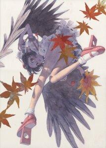 Rating: Questionable Score: 22 Tags: misawa_hiroshi nopan shameimaru_aya touhou wings User: Radioactive