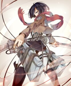 Rating: Safe Score: 42 Tags: mikasa_ackerman nou shingeki_no_kyojin sword uniform User: animeprincess