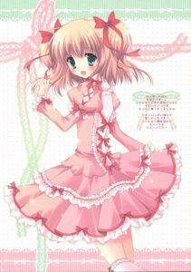 Rating: Safe Score: 35 Tags: cascade dress hasekura_chiaki lolita_fashion paper_texture User: syaoran-kun