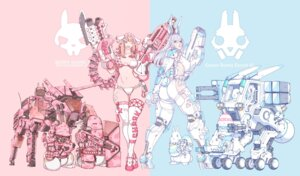 Rating: Questionable Score: 8 Tags: ass bikini bikini_armor bunny_girl cleavage erect_nipples gun heels mecha swimsuits tagme thighhighs underboob User: Etsukohonkai