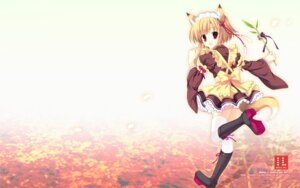 Rating: Safe Score: 38 Tags: animal_ears indico_lite kitsune maid mitha tail thighhighs wallpaper User: androgyne