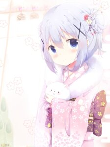 Rating: Safe Score: 80 Tags: gochuumon_wa_usagi_desu_ka? kafuu_chino kimono re-vivi tippy_(gochuumon_wa_usagi_desu_ka?) User: AltY