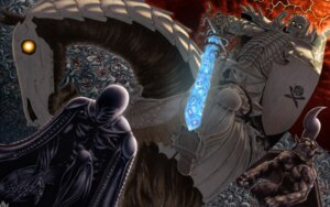 Rating: Safe Score: 13 Tags: armor berserk femto monster skull_knight sword wallpaper User: Ulquiorra93
