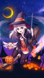 Rating: Questionable Score: 24 Tags: fate/kaleid_liner_prisma_illya fate/stay_night halloween illyasviel_von_einzbern tagme thighhighs witch User: Radioactive