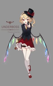 Rating: Safe Score: 17 Tags: ekita_gen flandre_scarlet gun thighhighs touhou wings User: Mr_GT