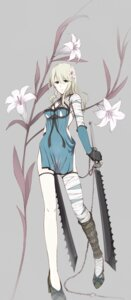 Rating: Questionable Score: 48 Tags: erise kaine_(nier) nier nopan see_through sword thighhighs User: van