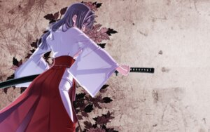 Rating: Questionable Score: 32 Tags: hiiragi_ryou miko no_bra sakuya_tsuitachi see_through sword wallpaper User: fireattack