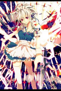Rating: Safe Score: 33 Tags: izayoi_sakuya maid manyako thighhighs torn_clothes touhou User: Nekotsúh
