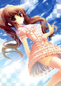 Rating: Safe Score: 75 Tags: dress himekaidou_hatate kinokonomi kokoa_(artist) konomi thighhighs touhou User: fireattack