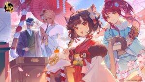 Rating: Safe Score: 21 Tags: animal_ears kimono majsoul megane tail umbrella vhumiku User: BattlequeenYume