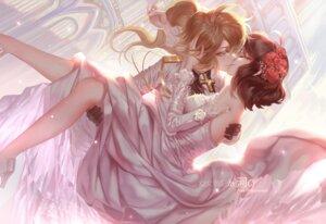Rating: Safe Score: 40 Tags: crossdress dress heels signed tagme wedding_dress youjo_senki yuri User: Radioactive