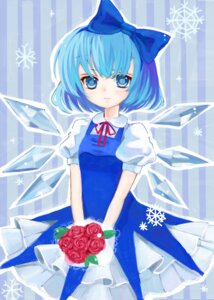 Rating: Safe Score: 15 Tags: cirno dress touhou umeko wings User: charunetra