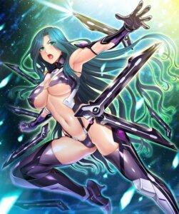 Rating: Questionable Score: 31 Tags: armor bikini_armor cameltoe erect_nipples heels makishima_ayame taimanin_asagi_kessen_arena thighhighs underboob zol User: Benawi3