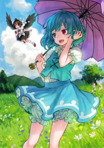 Rating: Safe Score: 32 Tags: ama-tou bloomers heterochromia shameimaru_aya tatara_kogasa touhou umbrella wings User: Mr_GT