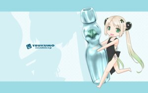 Rating: Safe Score: 10 Tags: chibi naked_apron ooji pantsu string_panties tsukumo-tan wallpaper User: aswecan