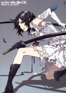 Rating: Safe Score: 51 Tags: dogs dress fuyumine_naoto miwa_shirow sword wedding_dress User: ming_tt