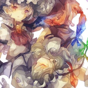 Rating: Safe Score: 10 Tags: cha_goma flandre_scarlet remilia_scarlet touhou wings User: charunetra