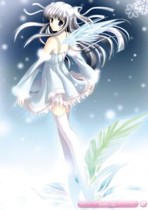 Rating: Safe Score: 39 Tags: dress hazumi_rio thighhighs wings User: fireattack