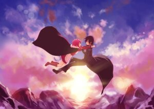 Rating: Safe Score: 13 Tags: akanotsuki kirito lisbeth sword_art_online User: aihost