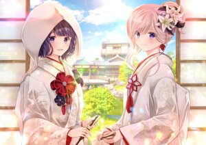 Rating: Safe Score: 22 Tags: fate/grand_order iroha_(shiki) japanese_clothes katsushika_hokusai_(fate/grand_order) miyamoto_musashi_(fate/grand_order) User: Mr_GT