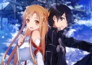 Rating: Safe Score: 56 Tags: abec armor asuna_(sword_art_online) kirito sword_art_online User: Korino