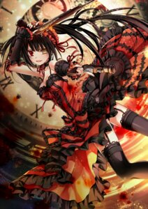 Rating: Safe Score: 50 Tags: cleavage date_a_live date_a_live_ii dress gothic_lolita gun heterochromia lolita_fashion pantsu stockings thighhighs tokisaki_kurumi weapon User: kiyoe