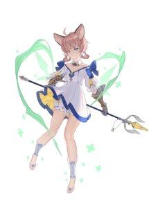 Rating: Safe Score: 15 Tags: animal_ears arknights armor bloomers dress ftuzi skirt_lift weapon User: Dreista