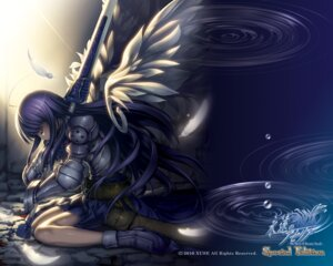 Rating: Safe Score: 63 Tags: armor aselia_bluespirit blood dress eien_no_aselia hitomaru sword wallpaper wings xuse User: TBFGETTA